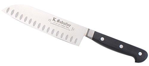 K Sabatier - Cuisine Orientale 17 Cm Alvéolée K Sabatier - Gamme Proxus - Acier Inoxydable - Manche Noir - 100% Forge - Entièrement Fabrique En France