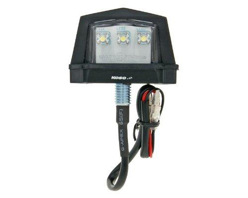 LED Nummernschildbeleuchtung KOSO, inkl. Gehäuse, mit E-Prüfzeichen, schwarz