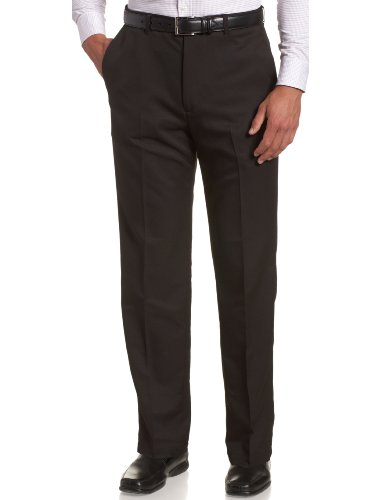 Haggar Herren Hose, groß & hoch, Cool Gabardine, Dehnbare Taille, einfarbig - Schwarz - 56W / 30L Mens Big And Tall Gabardine