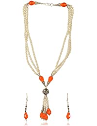 Fashion Avenue Silver Plated Multi-Strand Necklace Set For Women (FA074)