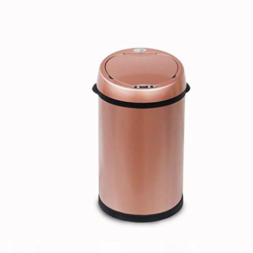 LyMei 8L Mülleimer Edelstahl Intelligente Sensor Mülleimer Hotel, Home Fashion Mülleimer, Wohnzimmer, Badezimmer, Küchen Bins,Pink