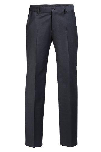 Esprit 993EO2B902 COMF Wool - Pantalon de Costume - Relaxed - Homme Bleu (Bleu marine foncé)