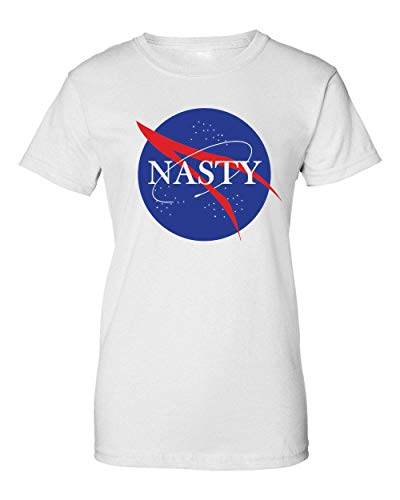 2b Nasty NASA Funny Print Camiseta de Mujer Small