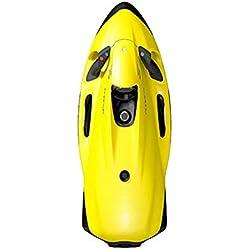 AMGJK Scooter sous-Marin, propulseur sous-Marin, Scooter Marin pour la plongée en Eau Profonde, L'Aventure en apnée ou la Chasse au Poisson,Jaune