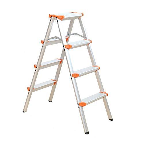 SHLDTZ Haushaltsklappleiter 4 Stufen Hocker - Ausziehleiter Aluminiumlegierung - Outdoor Indoor DIY Engineering Leiter Stufen Hocker Multifunktion (Vorhänge 104 Outdoor)