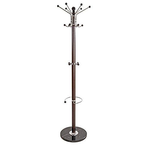 TecTake Perchero de pie percha de brazos altura total: aprox 170 cm - disponible en diferentes colores - (Negro-marrón | No. 401033)