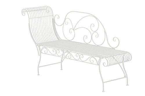 Gartenbank Elegante l Gartenliege l Recamiere aus Metall l weiß