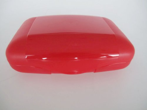 TUPPERWARE To Go Sehn Sucht rot Sandwich-Box Brotbox Behälter nimm mich mit