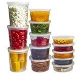 Kunststoff rund Lecksicher Container, Mikrowellen- und gefriergeeignet mit stabilem gut ausgestattet Deckel., farblos, 4oz - 114ml