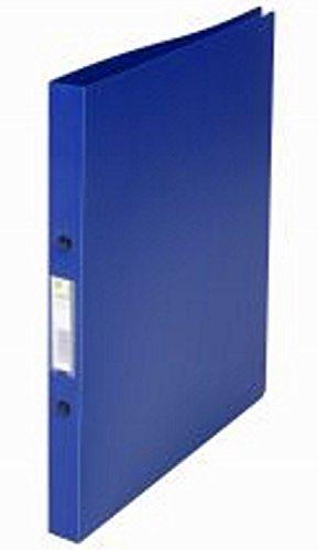 12er Set Ringbuch A4 in transluz. blau 2 Ringe 16mm von Q- Connect
