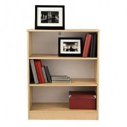 Small Bookcase Beech 3 Open Shelves