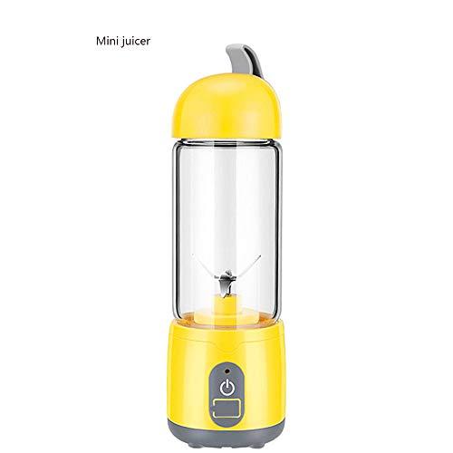 ZLC Exprimidor Portátil Exprimidor Eléctrico Seguro con USB Licuadora Recargable Batidora Sola Taza Jugo Mecanismo Smoothe Fácil De Limpiar Adecuado para La Escuela En El Exterior Y Viajar