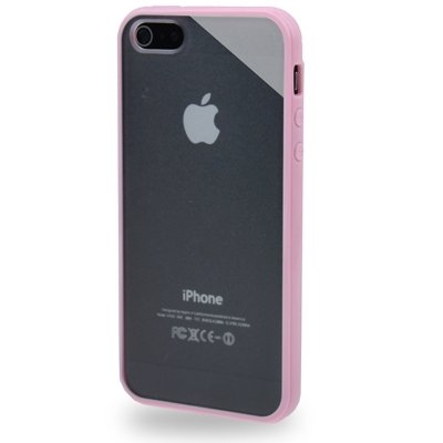 Mobiltelefonhülle - qyg q-case hochwertige tpu - frame durchscheinende vereiste plastik - etui für iphone 5 - 5s & se ( SKU : S-IP5G-5090TT ) S-IP5G-5090F
