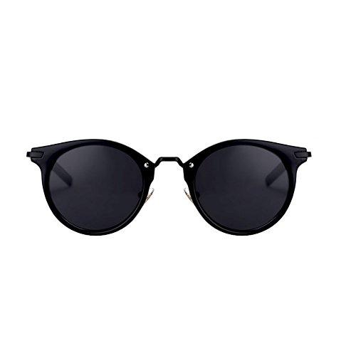 H.ZHOU Sonnenbrillen Weibliches rundes Gesichts-Retro kleine Rahmen-Gläser Arbeiten UVschutz-Sonnenbrille um (Farbe : 2)