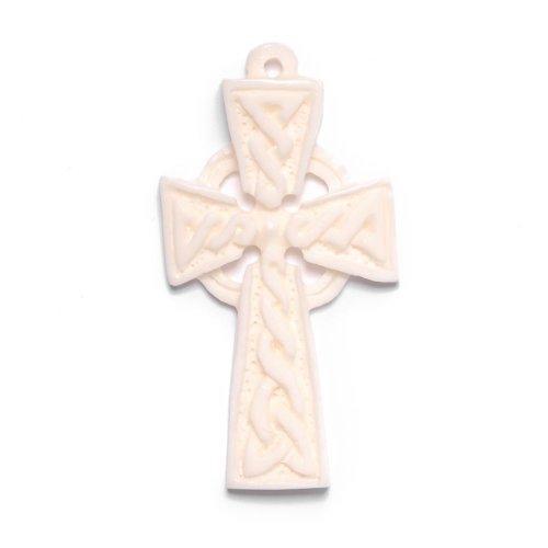 sche Kreuz Knochen Anhänger Halskette Irisch Irland ()