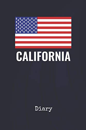 Diary: California United States | Blank Writing Journal | Patriotic Stars & Stripes Red White & Blue Cover | Daily Diaries for Journalists & Writers | Note Taking | Write about your Life & Interests (San Supplies Party Francisco)
