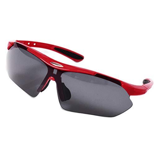 WITERY Outdoor-Sport-Sonnenbrille UV401-Schutz High Definition Vision Motorrad-Bike-Training Fahren von M?nnern und Frauen mit Schutzbrille