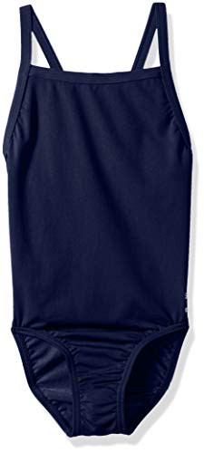 Speedo Mädchen Big Jugend Flyback Endurance + Training One Piece Badeanzug, Marineblau/Blau, Mädchen Damen, Navy, (Speedo Badeanzug Verkauf)