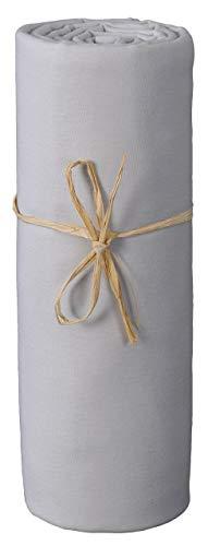 Spannbettlaken Jersey Baumwolle Bio Grau Perle Größe: 60 x 120 cm -
