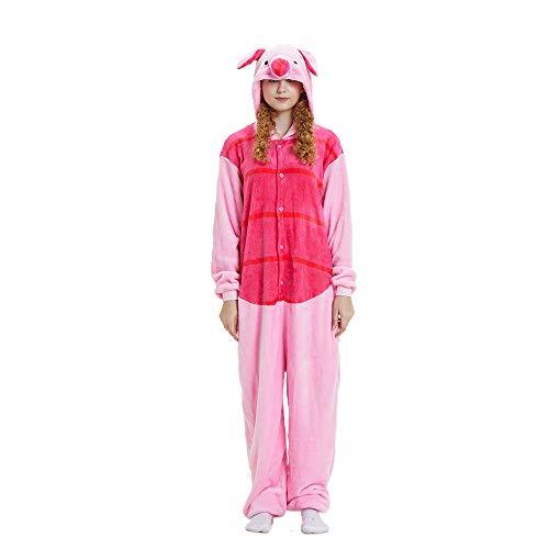 (NN IKEA Schlafanzug Tierkostüme Pyjamas Cartoon Cosplay Weihnachten Karneval,Pink,XL)