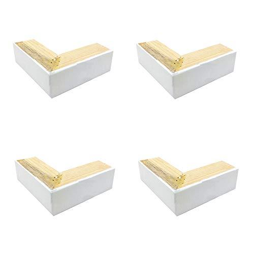 Möbelbeine aus massivem Holz, L-förmige Sofa-Couchtisch-Stützfüße, TV-Schrankbettfüße, erhältlich, 5 cm - L-förmige Couchtische