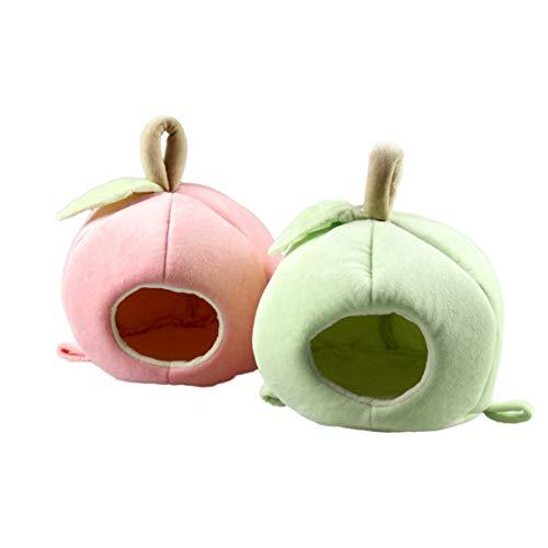 LouiseEvel215 Haustier Hamsternest Apfel Stil Kleintier Weiches Warmes Bett Haustier Hängematte Hamster Ratte Meerschweinchen Haus Nest Pad -