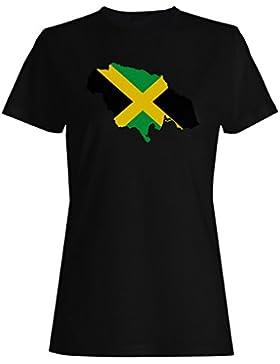 Nuevo Mundo De Viajes De La Bandera De Jamaica camiseta de las mujeres m144f