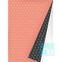 K601475-6 - Papel de regalo (50 cm de ancho, 100 m de largo), color naranja y negro 30cm x 50m