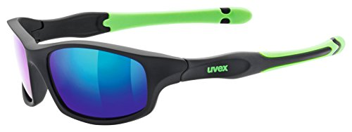 Uvex Kinder Sportstyle 507 Sportsonnenbrille Black Mat green One Size