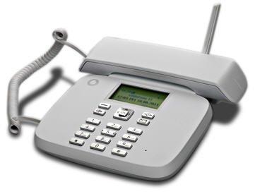 Telefono per sim gsm fisso bianco compatibile con vodafone tim wind
