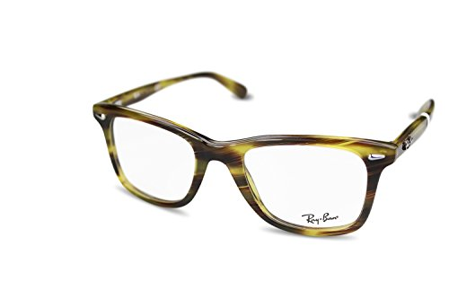 Ray Ban Optical Für Mann Rx5317 Striped Green Tortoise Kunststoffgestell Brillen, 52mm
