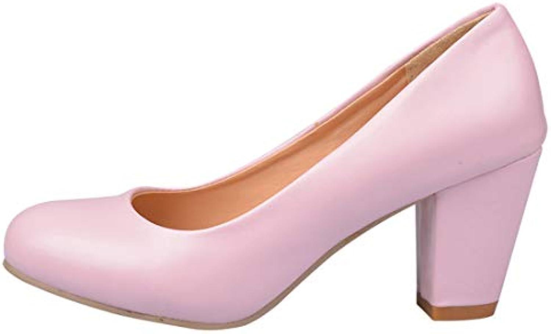 SERAPH scarpe Donne Tacco Alto Scarpe Del Piede rossoondo Toe Toe Toe Block Office Partito Scarpe | Moderato Prezzo  | Scolaro/Signora Scarpa  538cff