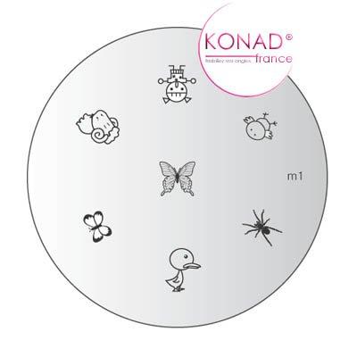 Platte Motivplatte M01Konad Stamping Nail Art - Konad Platten Set