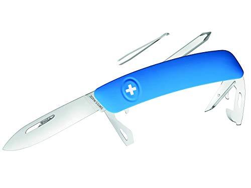Swiza D04Â Couteau Suisse, Verrouillage de la Lame, poignée Anti-dérapante Bols Rouge Noir Blanc Bleu