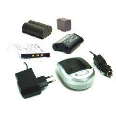 Nikon Digitale Camcorder ([Digitalkamera/ Camcorder Zubehör] Li-Ion Akku + Ladegerät (Netzteil & Kfz-Adapter) für NIKON D50 D300S D700 D90)
