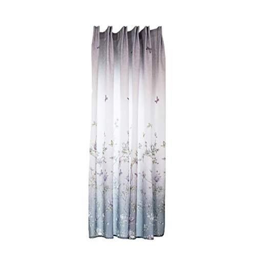 DIKHBJWQ BläTter Vorhang TüLl Fenster Behandlung Voile Drapieren Volant 1 Panel Stoff