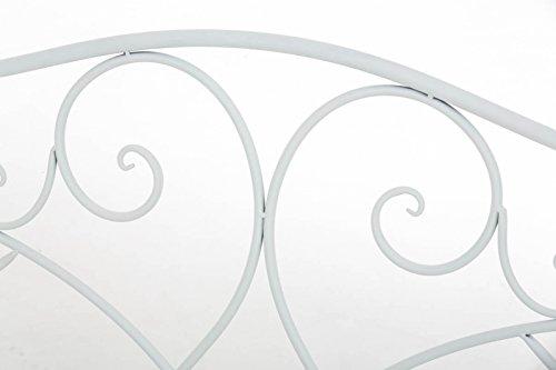 Gartenbank Felicita aus Eisen l Landhausstil l Metall weiß - 3