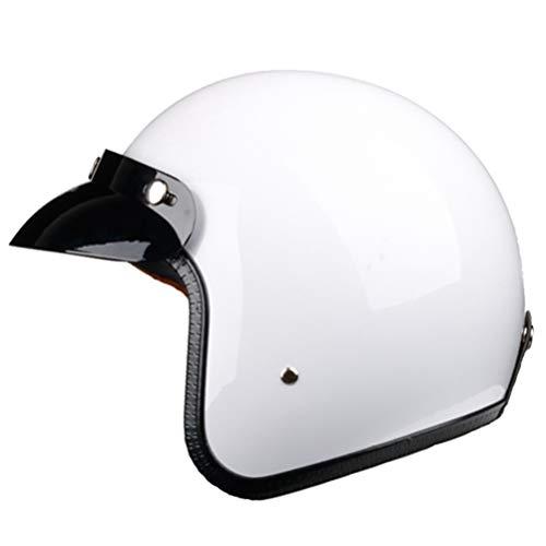 Generic Motorrad Integralhelm Jet Vintage Helm Retro 3/4 Integralhelm Casco Moto Capacete Motoqueiro DOT