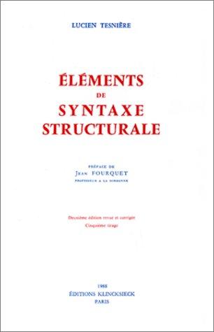Eléments de syntaxe structurale, 2e édition