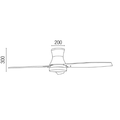 3174MI9N98L. SS500  - Projector Barcelona Tonsay 33384Ceiling Fan with Light, 15W Motor, Wings: Wood and Steel/White Opal Glass Maple Polycarbonate White