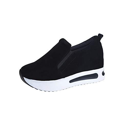 zapatos deportes mujeres ligero transpirable casuales zapatillas de deportivos correr gimnasio aumentar más altos sneakers asfalto aire libre fannyfuny