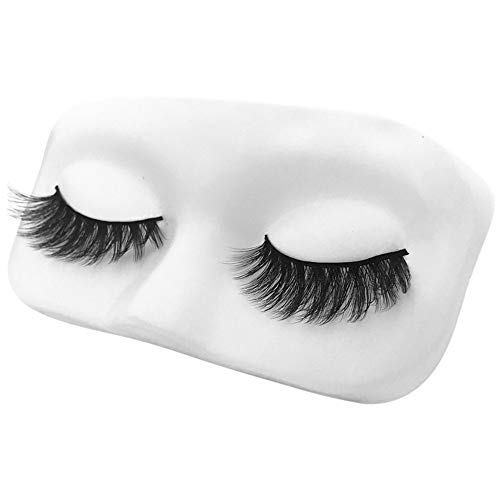 SMILEQ 5 Pair Luxury 3D False Lashes Fluffy Strip Wimpern Lang Natürlich Party (5Pair, Schwarz)