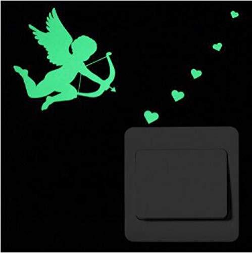 e Schalteraufkleber_DIY Qualität Leuchtende Aufkleber Leuchtstoff Kreative Halloween-Geistkinder Leuchtstoff Entfernbar ()