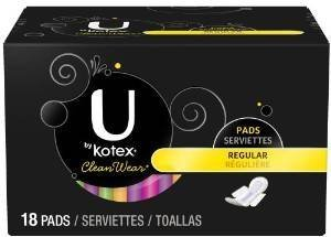 u-by-kotex-cleanwear-ultra-thin-regular-pads-with-wings-18-pads-pack-of-2-by-u-by-kotex