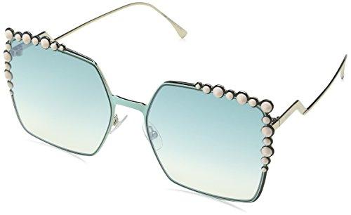 Fendi ff 0259/s je, occhiali da sole donna, nero (green), 60