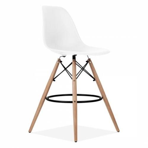 D & S inspiriert Eiffelturm Stil Frühstück Bar Hocker mit Beine aus Holz weiß Hocker Mit Eiffelturm