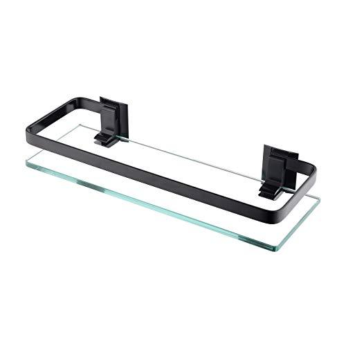 KES Estanterías para baño 35 x 12 cm, Estante de Vidrio para...
