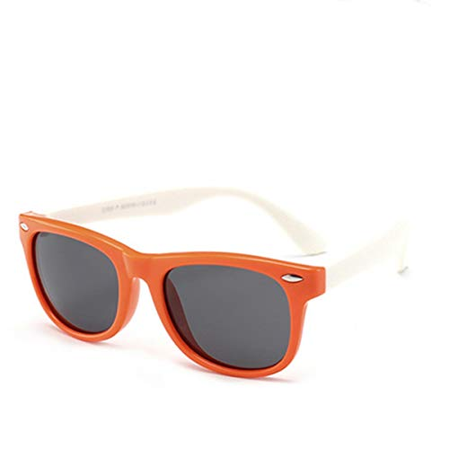 DYFDHA Sonnenbrillen NEW Silicone Children's Polarizing Sunglasses Square Boys And Girls'glasses UV400 Brand Soft Safety Sunglasses QMC8