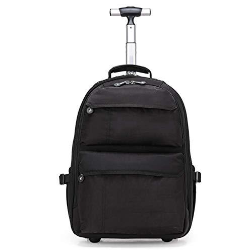 LQSJB Wheeled Roller Trolley Rucksack Geschäftsreisen Wheeled Laptop Tablet Tasche Mädchen und Junge Kind Teen Schulgepäcktasche -
