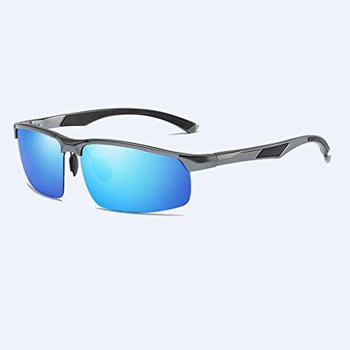 Jinxiaobei Herren Sonnenbrillen Polarisierte Sport-Sonnenbrille. Polarisierte UV400 Sport-Sonnenbrille Anti-Fog Ideal for Autofahren oder sportliche Aktivitäten. (Color : Gray)